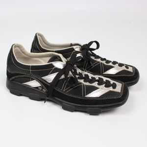 Donald J Pliner Sport black silver metallic oxford